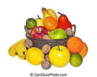 Ripe fruit in a basket