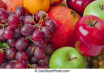 Ripe fruits background