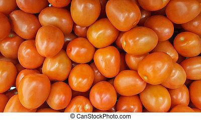 ripe grape tomatoes collection - close up of ripe grape...