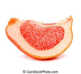 Ripe grapefruit segmet isolated on white