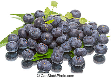 Ripe great bilberry - A pile of ripe great bilberry isolated...