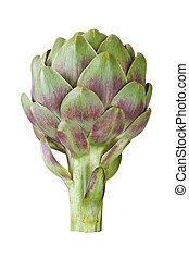 artichoke - Ripe green artichoke isolated on white...