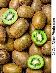 Ripe juicy kiwi.