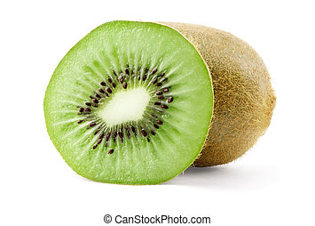 Ripe kiwi and slice