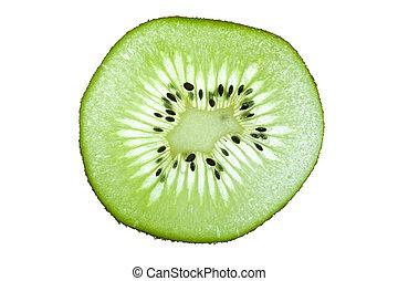 Ripe kiwi on white