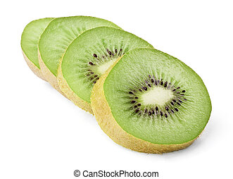Ripe kiwi slices