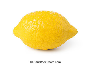ripe lemon fruit isolated on white background