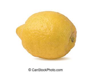 ripe lemon fruit on white