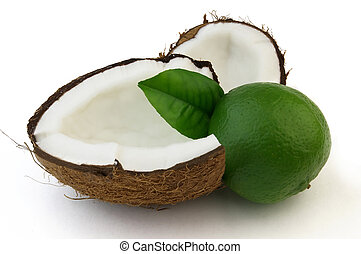 Ripe lime and coconut