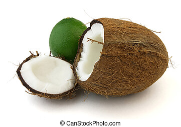 Ripe lime and sweet coconut