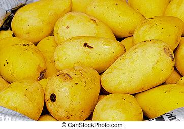 ripe mango on the market