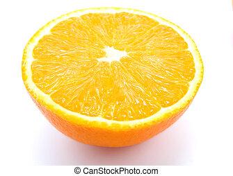 Ripe orange fruits isolated on white background