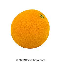 orange isolated on white background. fruit, food.