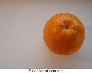 Ripe orange isolated on white background.