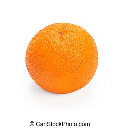 Ripe orange isolated on white background