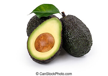 Ripe Organic Avocado - Fresh Avocados two whole and one...