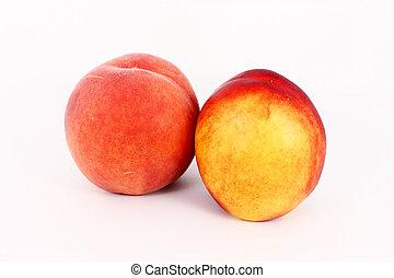 Ripe peach and nectarine