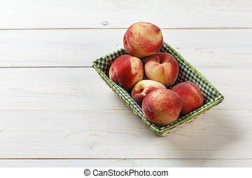 ripe peaches place for text
