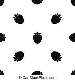 Ripe persimmon pattern seamless black