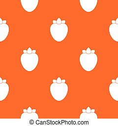 Ripe persimmon pattern seamless
