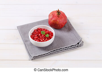 ripe pomegranate with seeds