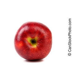 Ripe red apple. Isolated on a white background.
