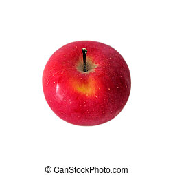 Ripe red apple isolated on a white background