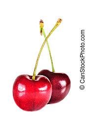 Ripe red cherry berries