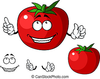 Ripe red happy tomato vegetable