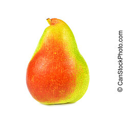 Ripe red pear isolated on white