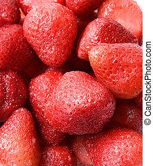 Ripe red strawberry