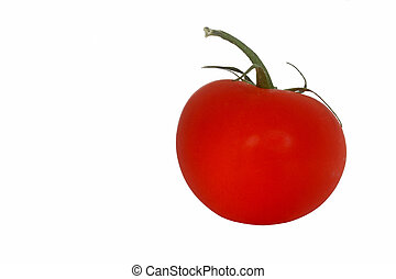 Ripe red tomato isolated on white background