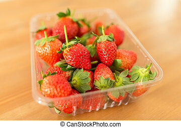 Ripe Strawberry in a box
