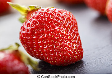ripe strawberry place for text