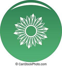 Ripe sunflower icon vector green