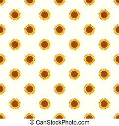 Ripe sunflower pattern seamless vector