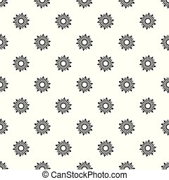 Ripe sunflower pattern seamless vector