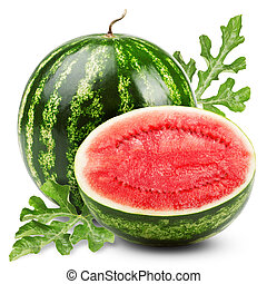 watermelon - Ripe sweet watermelon isolated on white