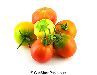 Ripe tomatoes and peppers