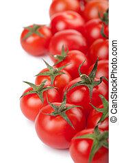 ripe tomatoes background isolated