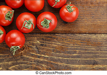ripe tomatoes place for text