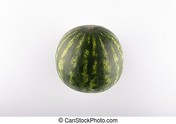 ripe watermelon close-up on a white background