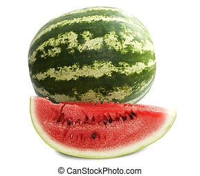 ripe watermelon isolated on white