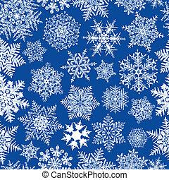 ripetere, seamless, fondo, fiocco di neve