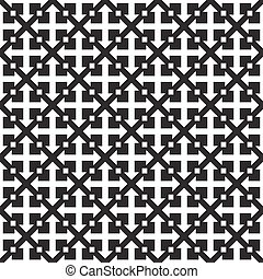 ripetere, vettore, pattern., geometrico, seamless