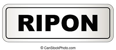 Ripon City Nameplate - The city of Ripon nameplate on a...