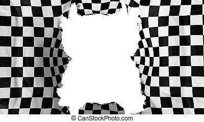 Ripped Checkered flying flag