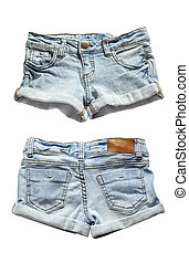 Ripped handmade jeans