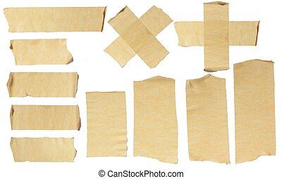 Ripped Masking Tape - Images of Ripped Masking Tape isolated...