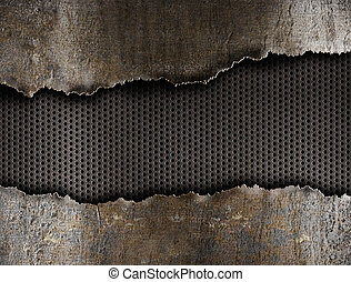 ripped metal background - metal torn background
